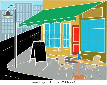 Restaurant Entrance On Corner