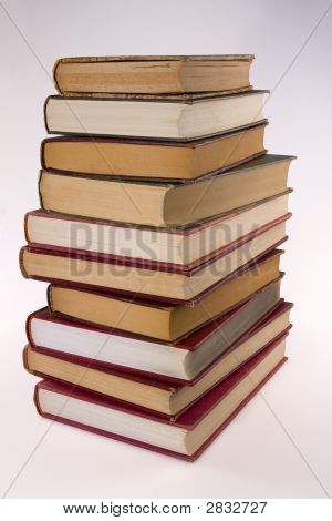 Stack Of Encyclopedia Books