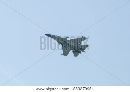 Moscow, Russia - February 23, 2010: Airshow At The Airport Near Moscow In Honor Of Defender Of The F