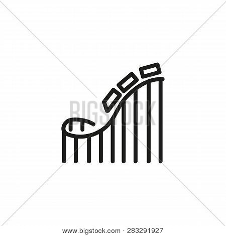Amusement Park Line Icon. Roller Coaster, Fair, Attraction. Adrenaline Concept. Can Be Used For Topi