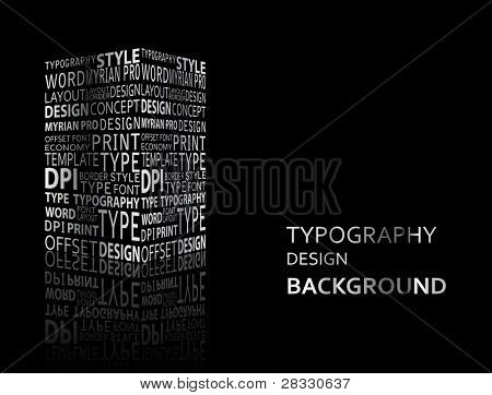 Typography background
