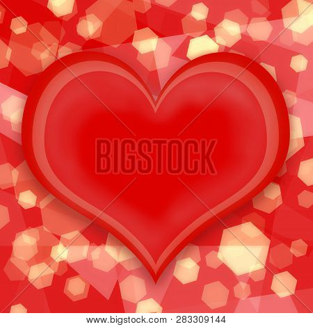 Love Heart On Bokeh Background To Valentine Day