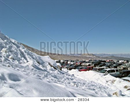 Ski Resort Parking Lot