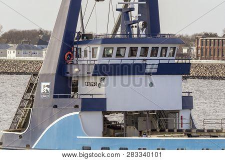 New Bedford, Massachusetts, Usa - January 29, 2019: Pilothouse Of Clammer Sea Watcher Ii As Captain