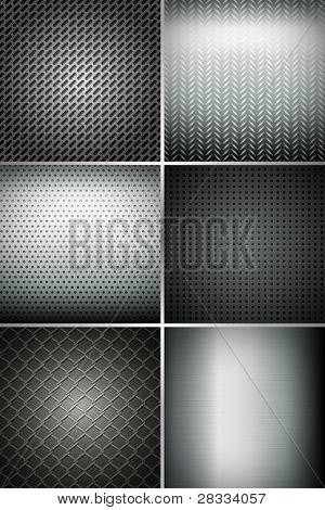 Abbildung Reihe von Metal Texture background
