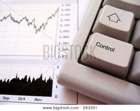 Stock Chart And Keyboard