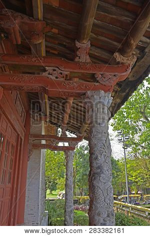The Back Of The Thai Hoa Palace, Facing Can Chanh Palace, In The Imperial City, Hue, Vietnam