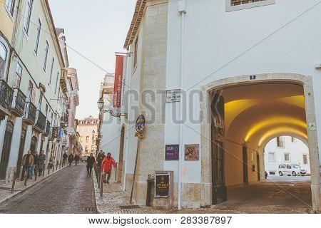 Lisbon, Portugal - 01/03/19: Convent Of Saint Peter Of Alcantara, Bairro Alto, Belonging To Santa Ca