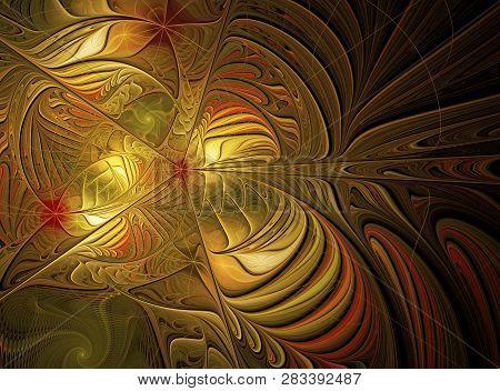 Abstract Fractal Background, Texture, Fractal Spiral, Fractal Art