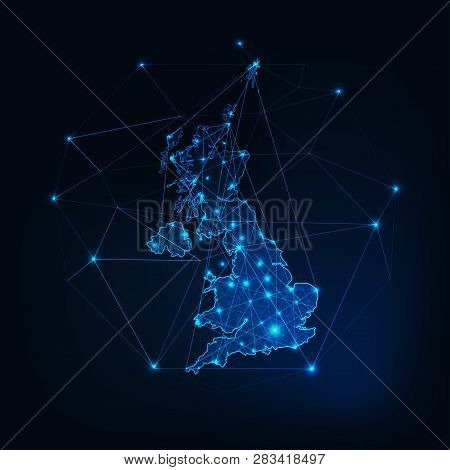 United Kingdom Of Great Britain And Northern Ireland Map Outline.