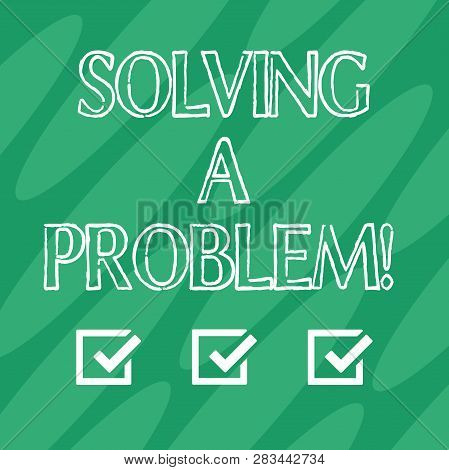 Handwriting Text Solving A Problem. Concept Meaning Include Mathematical Or Systematic Operation Fin