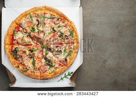 Italian Fast Food. Delicious Hot Pizza In A Box