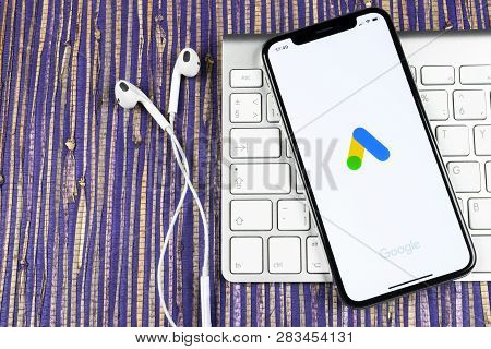 Sankt-petersburg, Russia, February 10, 2019: Google Ads Adwords Application Icon On Apple Iphone X S