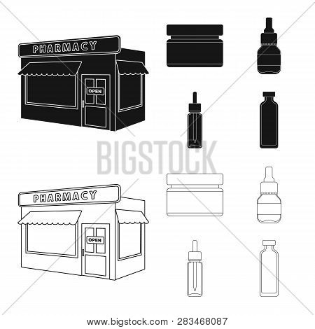 Vector Design Of Retail And Healthcare Icon. Collection Of Retail And Wellness Stock Vector Illustra