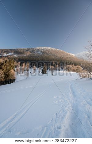 Butoranka With Luksinec And Lysa Hora Hills On The Background In Moravskoslezske Beskydy Mountains I