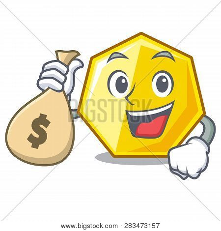 With Money Bag Heptagon In The A Cartoon Shape