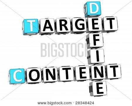 3D Define Target Content Crossword