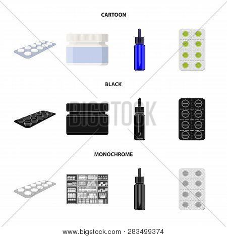 Vector Design Of Retail And Healthcare Icon. Collection Of Retail And Wellness Vector Icon For Stock