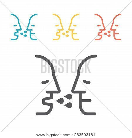 Airborne Infection. Line Icon. Vector Sign For Web Graphic.
