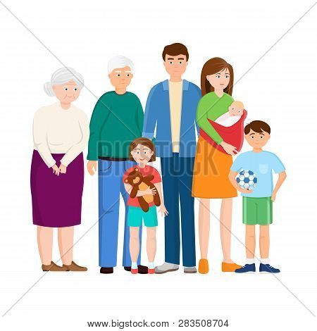 Isolated Object Of Relatives And Dad Icon. Collection Of Relatives And Grandpa Vector Icon For Stock