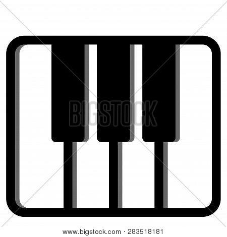 A Keybroad Vector Illustration In Line Color Design