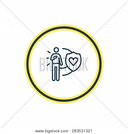 Vector Illustration Of Honesty Icon Line. Beautiful Emoticon Element Also Can Be Used As Loyalty Ico