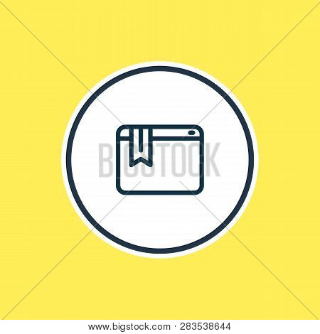 Vector Illustration Of Bookmark Service Icon Line. Beautiful Marketing Element Also Can Be Used As W