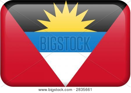 Antigua And Barbuda Flag Button