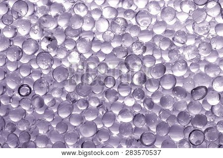 Macro Shot Of Silica Gel Granules. Desiccant Used In Industrial, Moisture Protection