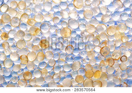 Macro Shot Of Colored Granules Silica Gel. Useful For Background Presentation Sample