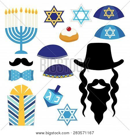 Cute Photo Booth Props For Hanukkah. Grab A Prop And Strike A Pose