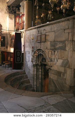 Entrance to the Grotto of the Nativity, Bethlehem