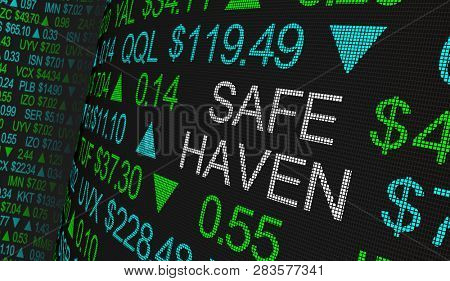Safe Haven Tax Protection Shares Fund Stock Market Ticker Words 3d Illustration poster