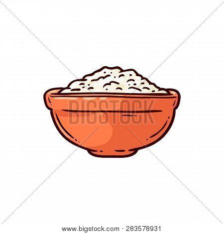 Vector Salt Mineral Ceramic Pot Sketch Icon