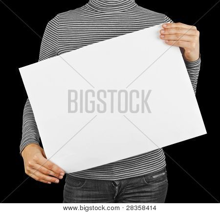 business card blank in a hand