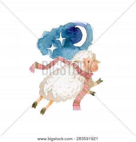 Sweet Dreams And Good Night With Cute Lamb