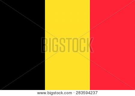 Belgium Vector Flag Illustration . Brussels, Europe. Eps