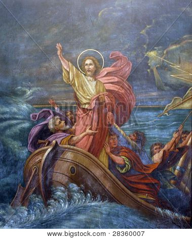 Jesus Calms a Storm on the Sea poster