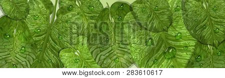 Realistic Tropical Vector Photo Free Trial Bigstock Tropic clipart tropical watercolor leaves bright green | etsy. bigstock