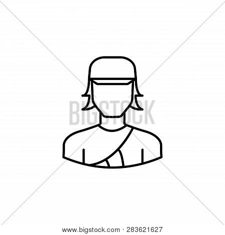 Avatar Archer Outline Icon. Signs And Symbols Can Be Used For Web Logo Mobile App Ui Ux