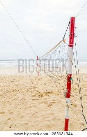 Volleyball Net System Portable Playing Outdoor Sports Equipment, Beach Volleyball Beautiful In Danan
