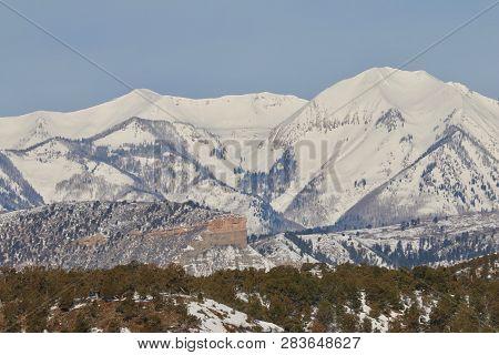 Snow Blanket Over The La Plata Mountains