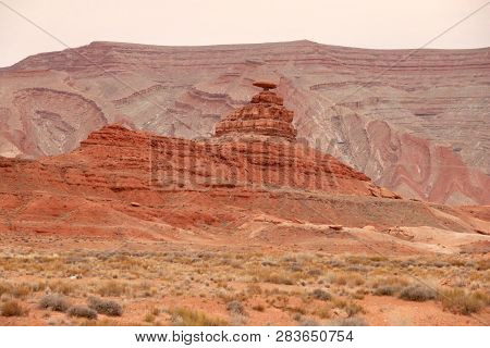 Mexican Hat Rock Formation In Mexican Hat, Ut