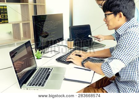 Programmer Work With Developing Programming