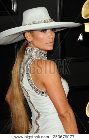 LOS ANGELES - FEB 10:  Jennifer Lopez at the 61st Grammy Awards at the Staples Center on February 10, 2019 in Los Angeles, CA