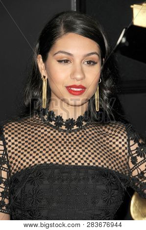 LOS ANGELES - FEB 10:  Alessia Cara at the 61st Grammy Awards at the Staples Center on February 10, 2019 in Los Angeles, CA