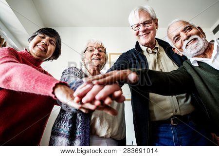 Senior people together