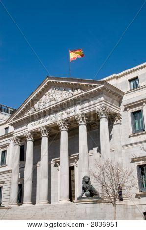 Facade Of 'Congreso De Los Diputados' Building, Madrid