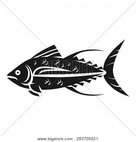 Tuna Icon. Simple Illustration Of Tuna Vector Icon For Web Design Isolated On White Background