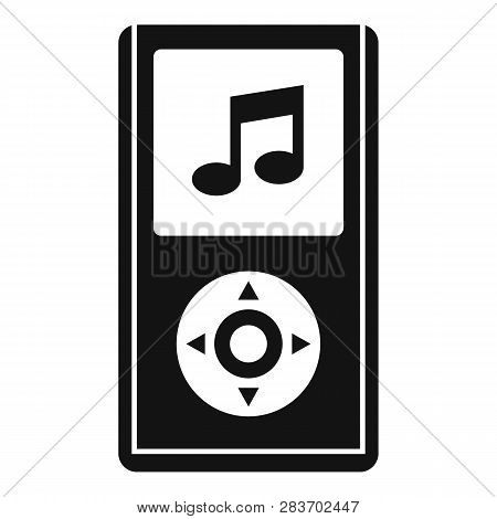 Portable Music Player Icon. Simple Illustration Of Portable Music Player Vector Icon For Web Design